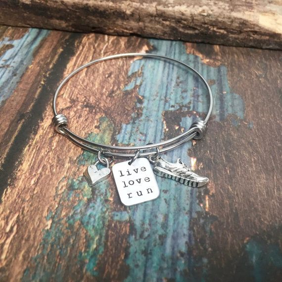 Running Gifts Runner Bracelet Live Love Run Runners Jewelry for Women Great Gifts for Marathon Half Marathon Ultra or any Distance
