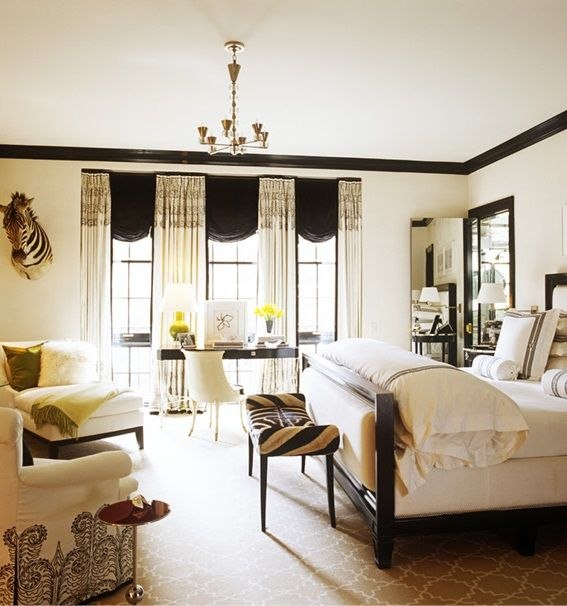 Black, White And Gold Bedroom