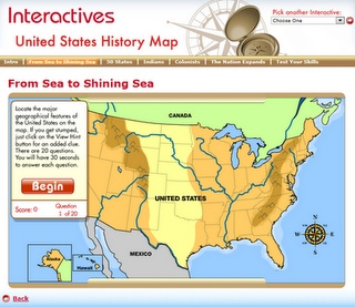 I am highlighting the US history one, but there are many great ones at this site.  I found that even though many are listed for older children, there were pieces in each one that I could use with my 3rd graders--either as a whole class lesson or as an extension for some of my high-achieving students.