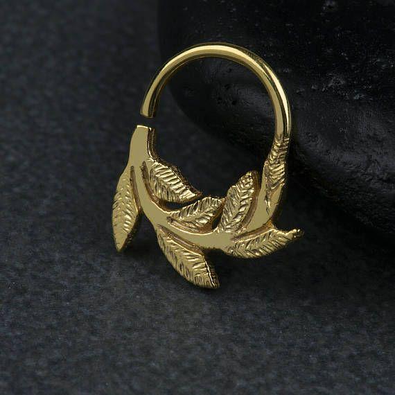 Αφήνει μύτη διαφράγματος Ring Ring σώματος Κοσμήματα 925 στερεό