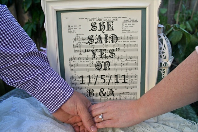 Engagement announcement picture