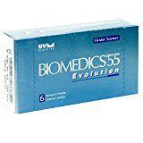 Biomedics 55 Evolution Monatslinsen weich, 6 Stück / BC 8.6 mm / DIA 14.2 / -4,00 Dioptrien