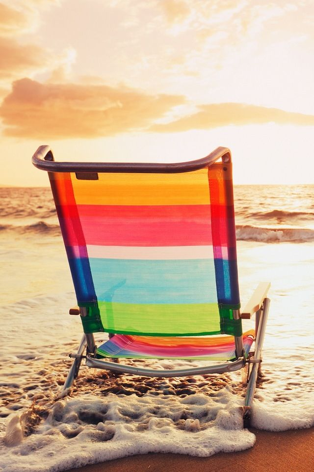 "#Colorful Seating On The #Beach  ................. #GlobeTripper® | https://www.globe-tripper.com | ""Home-made Hospitality"" | http://globe-tripper.tumblr.com"