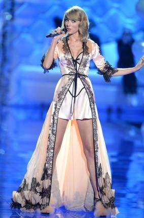 American singer Taylor Swift performs during the 2014 Victoria's Secret Fashion Show at Earl's Court Exhibition Centre in London on December 2, 2014. UPI/Paul Treadway  Read more: http://www.upi.com/News_Photos/Entertainment/2014-Victorias-Secret-Fashion-Show/fp/8728/#ixzz3Kqsesqwx