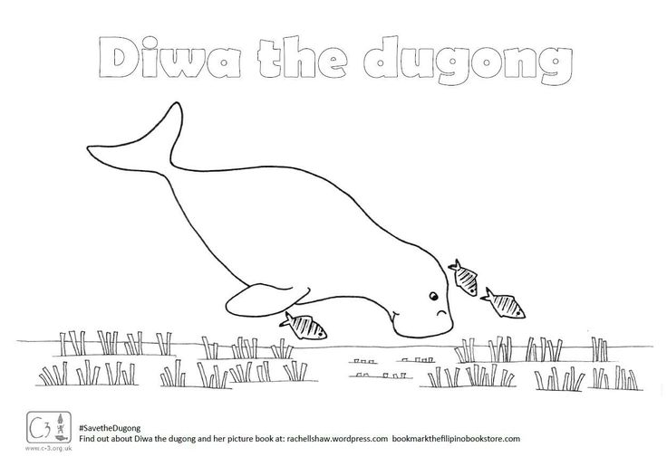Diwa The Dugong Coloring Page