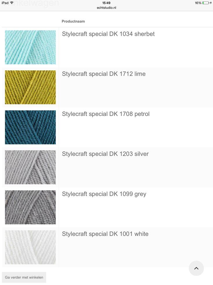 De kleuren voor de deken