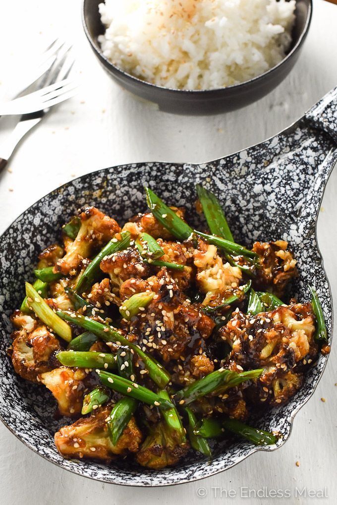General Tso's Cauliflower   A super easy to make and healthy weeknight meal.   theendlessmeal.com