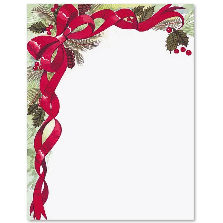 Christmas Bow Letter Paper | Idea Art