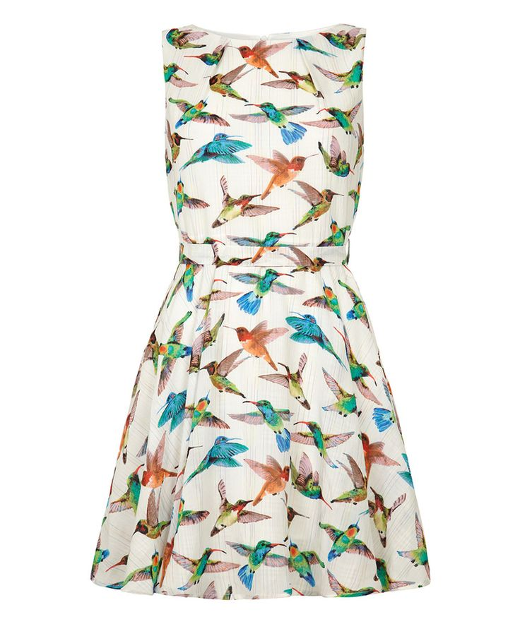 Look at this White Hummingbird A-Line Dress on #zulily today!