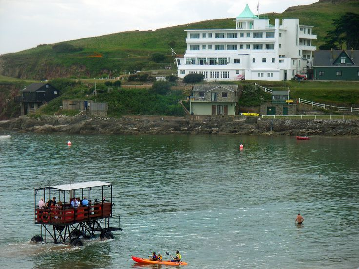 South Devon's tiny, tidal Burgh Island feels as if it stepped out of the pages of an English adventure tale-- and not just because its coves and caves were much loved by Agatha Christie and Noel Coward.