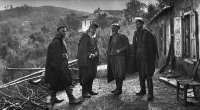 Four brothers in traditional Cretan dress, costume. Οι αδελφοί Μάντακα στο χωριό Λάκκοι, Κρήτη, 1911