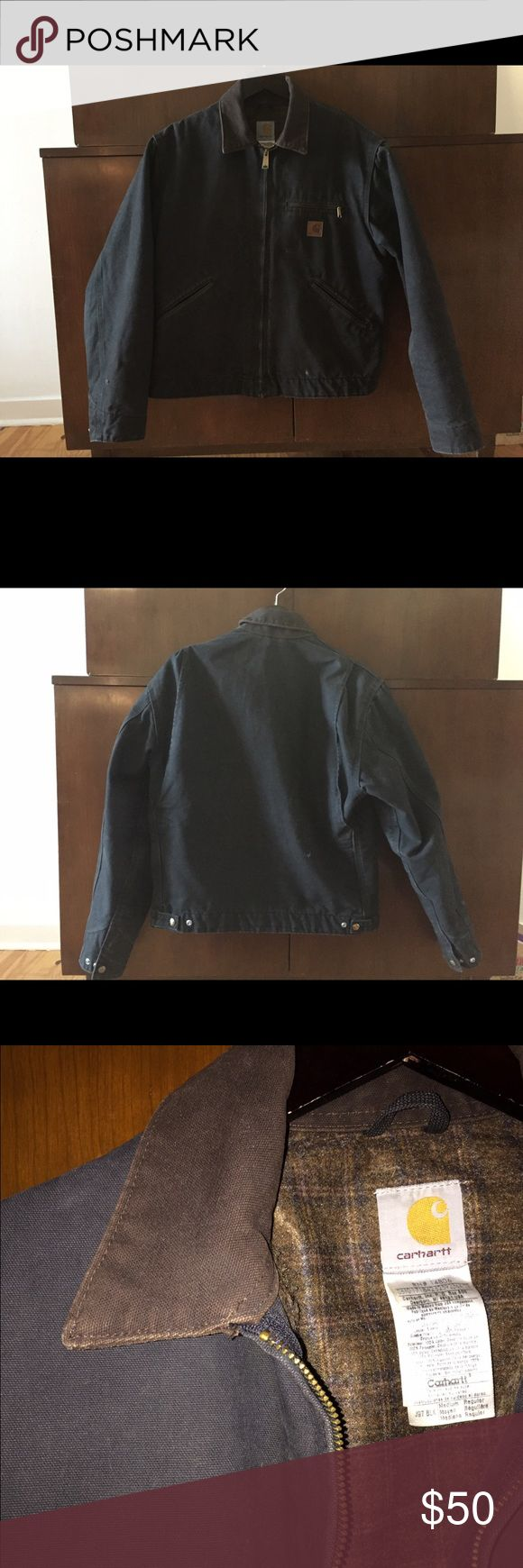 Men's Carhartt Jacket. Size M. Black. Men's Carhartt jacket. Size M. Black. 100% cotton shell. 100% polyester body lining. 100% nylon sleeve lining. Great condition. Carhartt Jackets & Coats