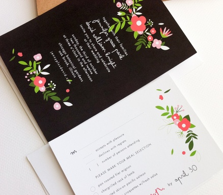 cute floral invitations
