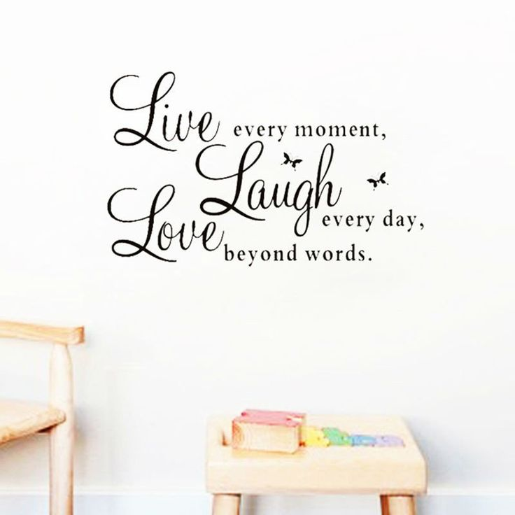 """Home Decor Wall Decals Inspirational Quotes """"Live Laugh Love"""""""