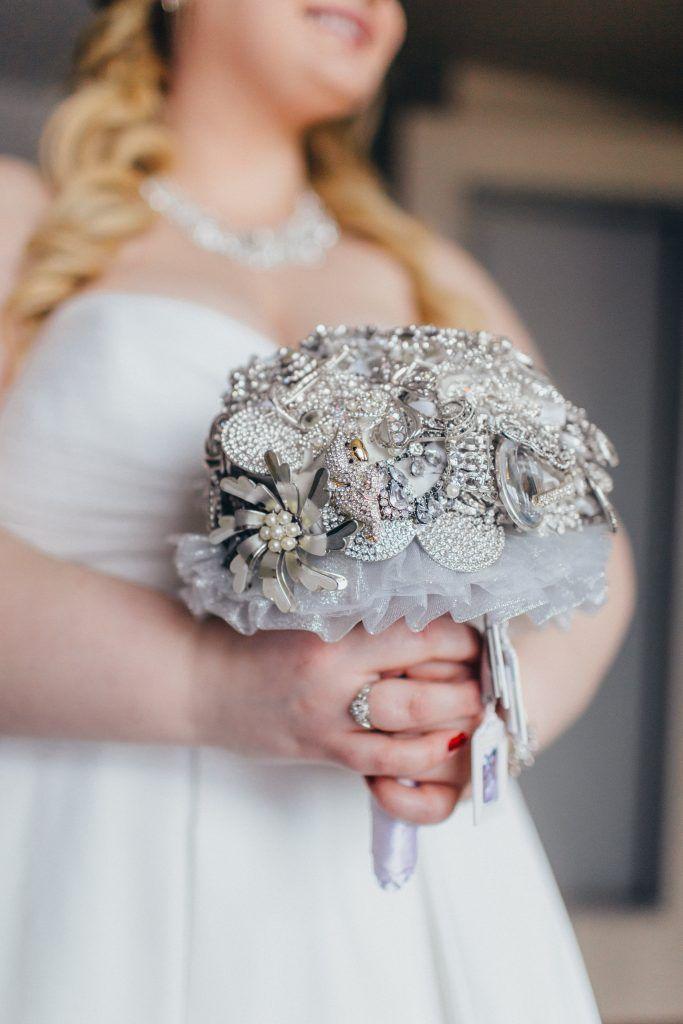 Winter Wedding Inspiration, Broach Bouquet, Best Calgary Alberta Canada Photographer Tess Lucas, www.tesslucas.com