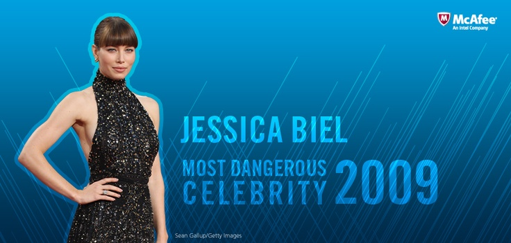 Jessica Biel is named 2009's Most Dangerous Celebrity to search for in cyberspace