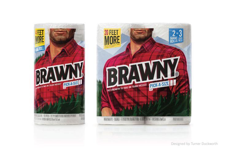 Brawny packaging. Designed by Turner Duckworth.