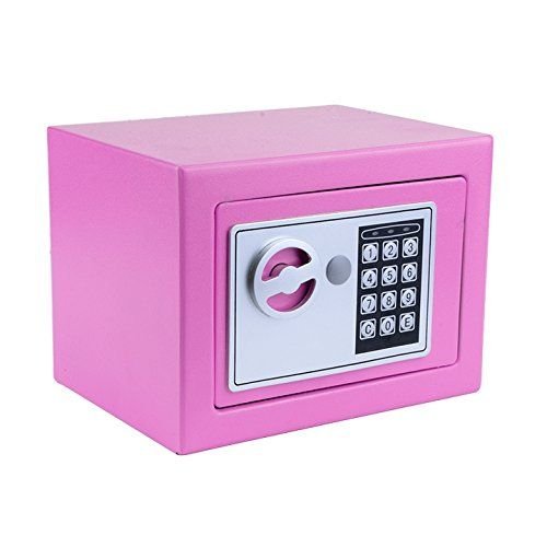 """Kaluo Fireproof Digital Electronic Home Safe-8.9"""" X 6.5"""" X 6.5"""" Home Security Box,Master Key Included and Mounting Kits(US Stock)  Material: Solid Steel, the security safe is very reliable and long-lasting strength, Exterior Dimensions: 9.2"""" x 6.8"""" x 6.8"""", Interior Dimensions: 8.9"""" x 6.5"""" x 6.5"""",Weight:8.43lb  Double Safety: Electronic lock with override key lets you choose your combination;Master key included in the even of forgotten or lost codes,and in case of low battery, you can u..."""