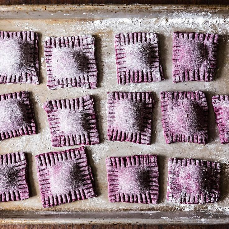Beet Ravioli with Goat Cheese, Ricotta and Mint Filling  recipe on Food52
