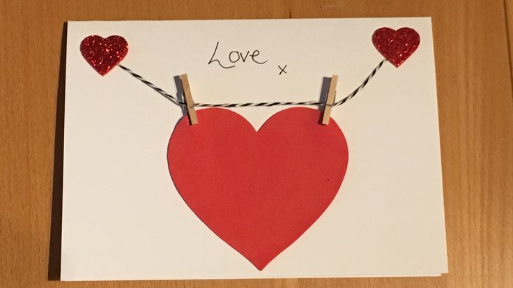 Valentines card with sticky foam hearts ❤️, string and mini pegs! Simple Done Good  (2016)