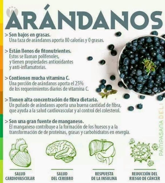 Verde y Natural: Beneficios de los arándanos