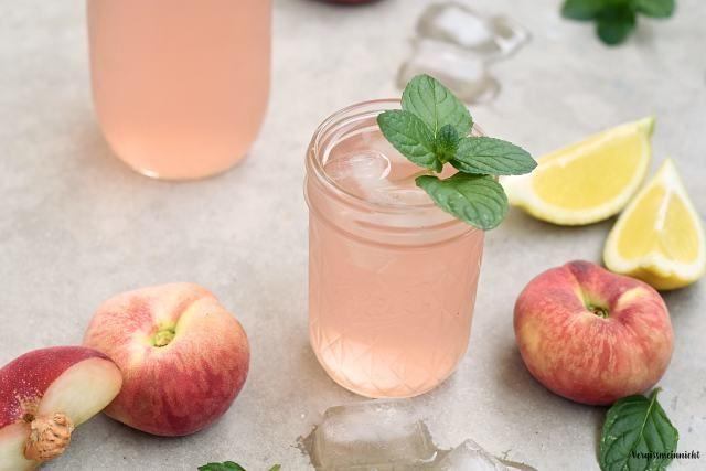 Bergpfirsich Limonade - ohne Zucker - Vergissmeinnnicht