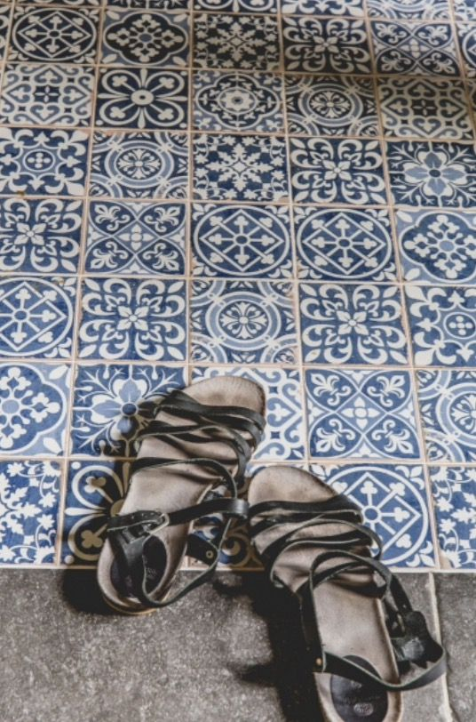"""This lovely floor tiles are from our feature """"French Finesse"""""""