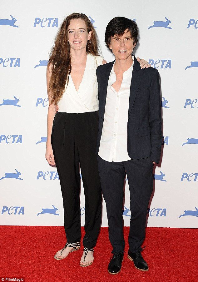 Just married: Tig Notaro married her fiancee Stephanie Allynne, 31, in her home town of Pass Christian, Mississippi on Saturday