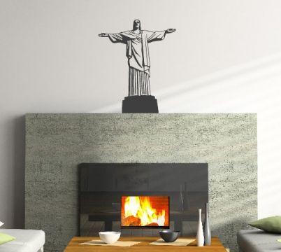 Amazing topdesignshop Wandtattoo Aufkleber und Gravuren Shop Christus Statue Rio de janeiro Wandtattoo Wand Aufkleber