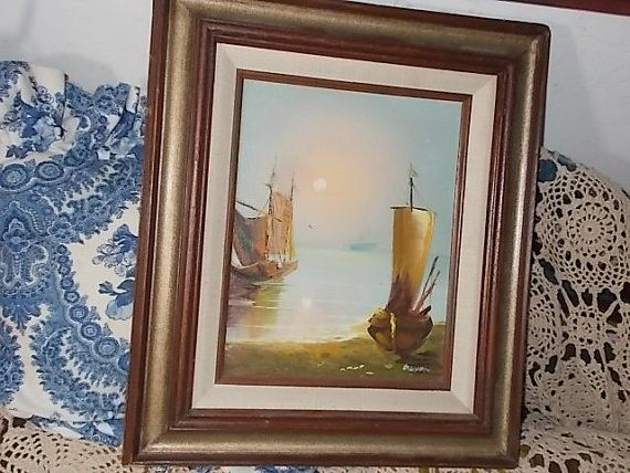 Dixion Painting of Sailboats on by Daysgonebytreasures on Etsy