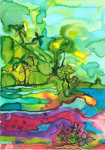 agata kowalska illustration: watercolor