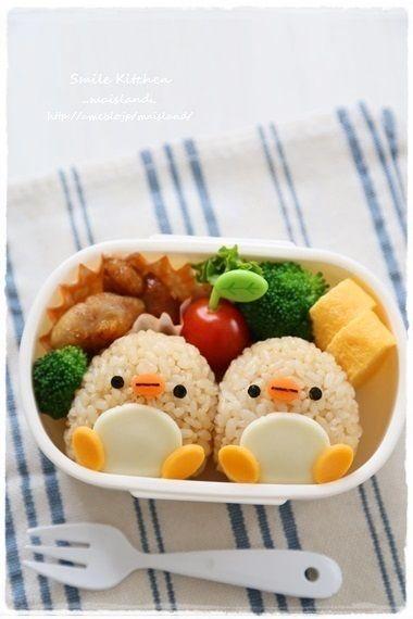 日本人のごはん/お弁当 Japanese meals/Bento ペンギン弁当 penguin bento これは御小さい方用でしょうね(´ω`* )