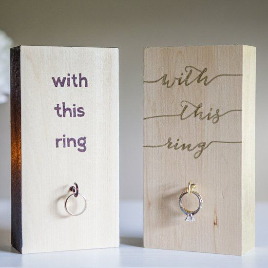 The perfect gift for a bridal shower! A DIY wedding ring holder for the bride-to-be's new bling!