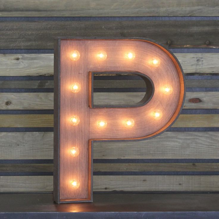 "Edison Marquee Letter - ""P"" 