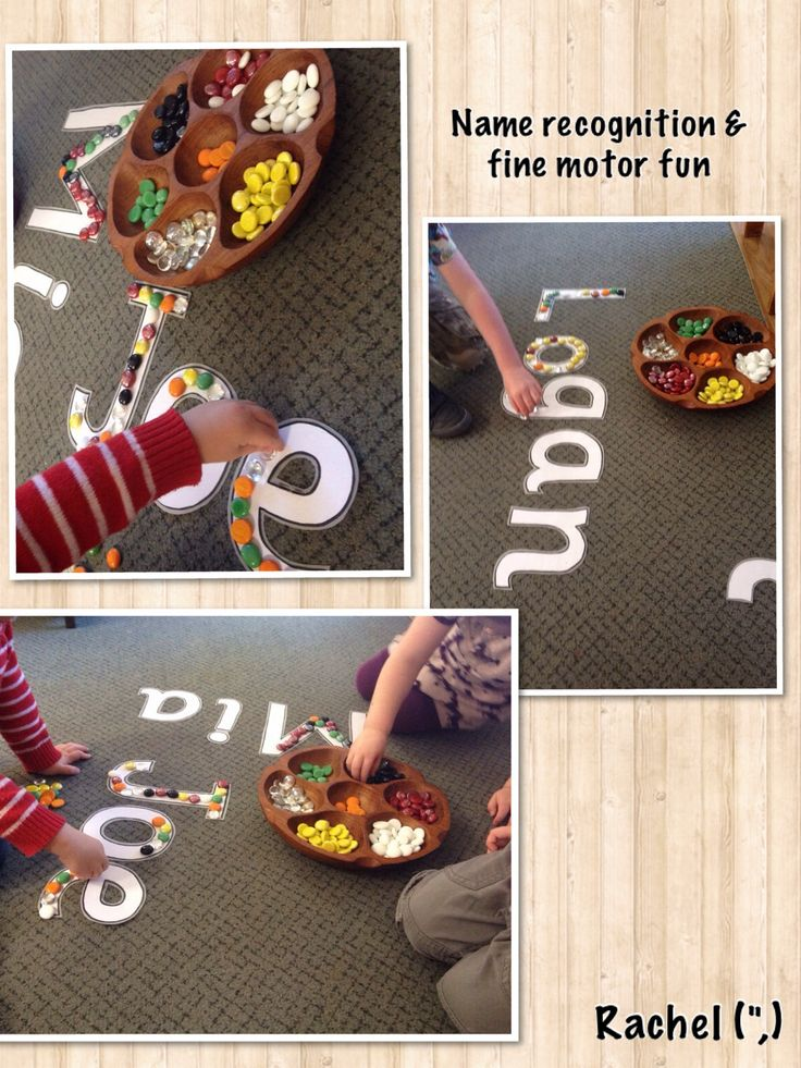 """Name recognition & fine motor fun from Rachel ("""",)"""