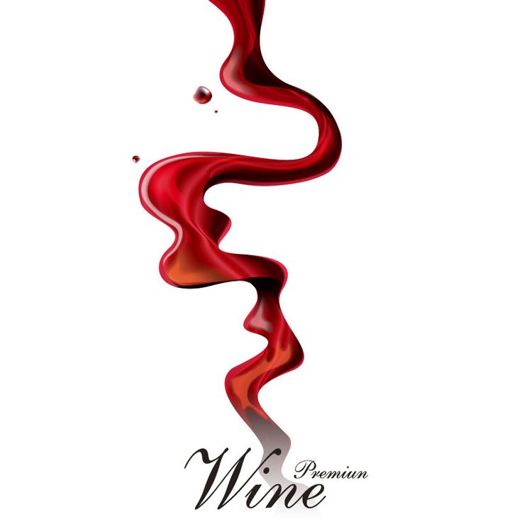 Dynamic Wine Poster Vector