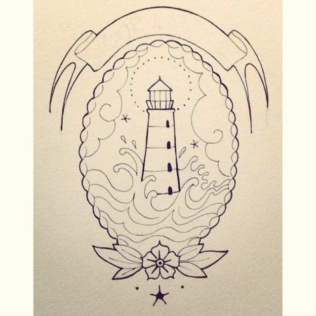 the gallery for gt lighthouse tattoo outline