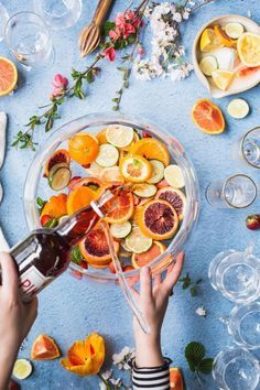 Pimm's Punch with gin is perfect for a big crowd.