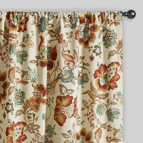 One of my favorite discoveries at WorldMarket.com: Multicolor Floral Malli Sleevetop Curtains, Set of 2