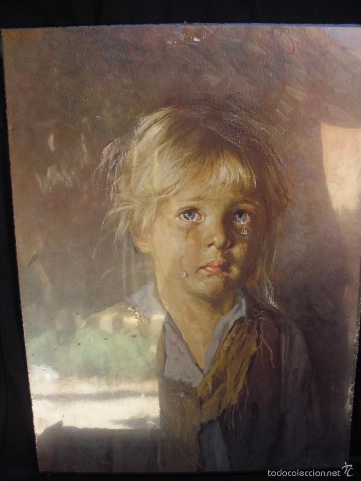 Mega raros cuadros de preciosos niños llorando, calificados de niños malditos de Bragolin