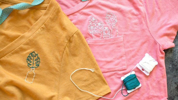 DIY Embroidered Shirt