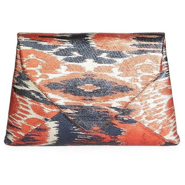 Dries Van Noten Printed Envelope Clutch ($1,015) ❤ liked on Polyvore featuring bags, handbags, clutches, leather man bags, envelope clutch bags, leather envelope clutch, red hand bags and red clutches