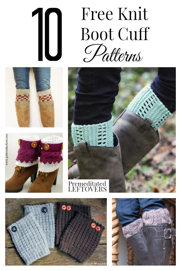 Here are 10 Free Knit Boot Cuff Patterns for Women, including cable knit boot cuffs, easy knit boot cuff patterns, and many more free knit boot cuff patterns. Add these DIY boot cuffs with boots and jeans to easily update your fall wardrobe.