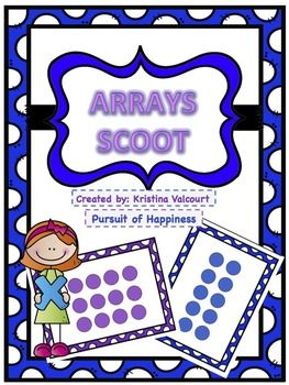 This colorful Arrays Scoot features:-16 task cards-teacher answer key (multiplication &repeated addition)-student answer sheetThis scoot can be played for as Multiplication Game, Repeated Addition, or both!Thank you in advance for purchasing and leaving feedback :)!