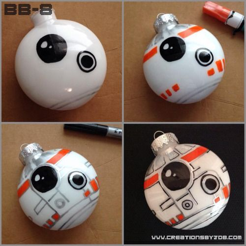bb8 diy star wars christmas ornaments google search christmas pinterest star wars. Black Bedroom Furniture Sets. Home Design Ideas