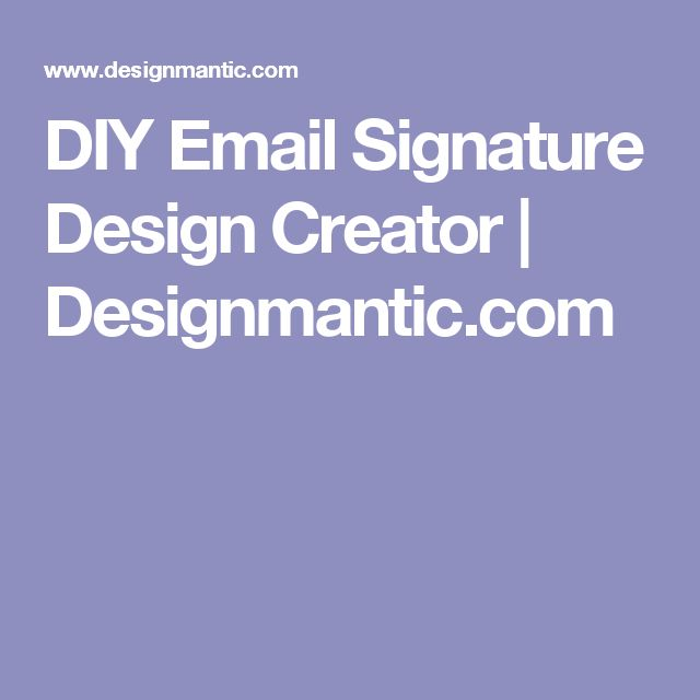 Best 25+ Email signature generator ideas on Pinterest ...
