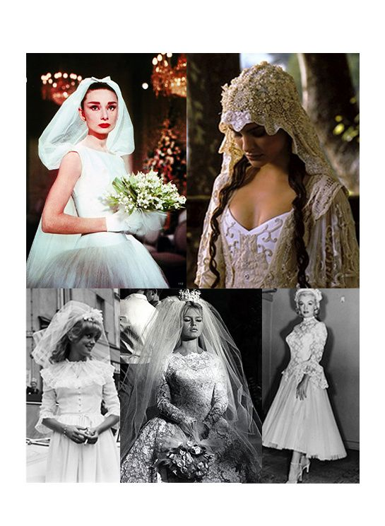 Wedding dresses from the Silver Screen!