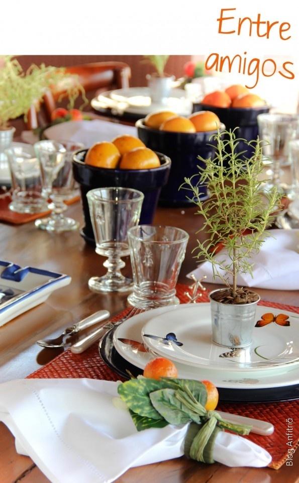 Anfitriã - Como receber em casa - decoração - mesas churrasco