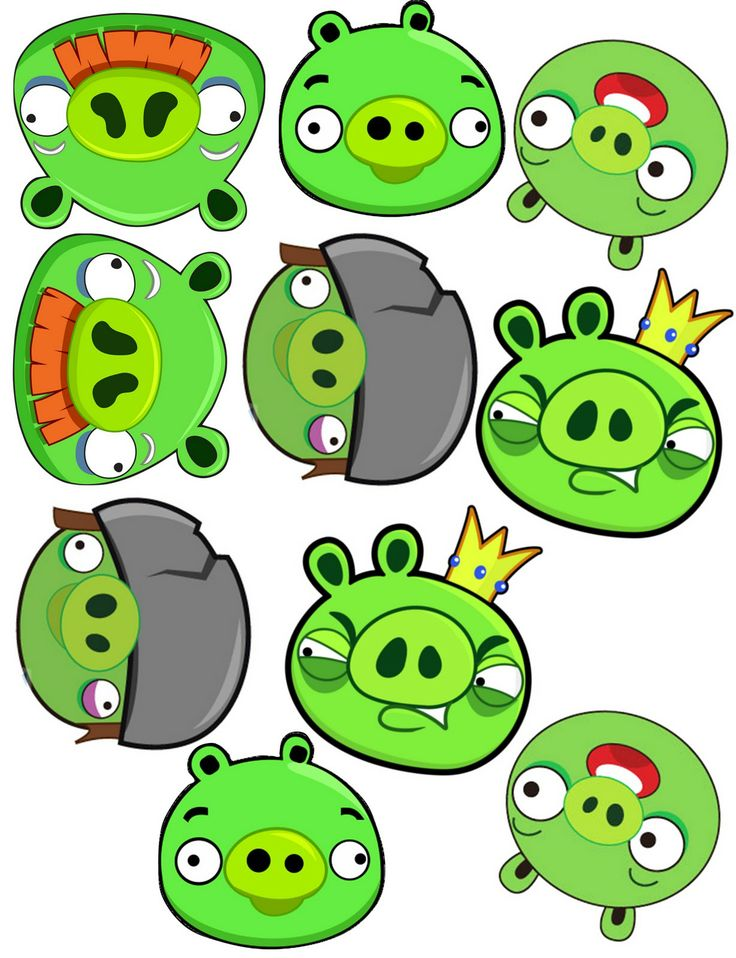 51 best angry birds printables images on pinterest bird for Angry bird pig template