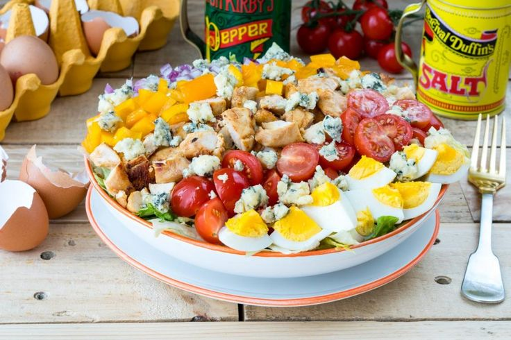 Protein Packed Buffalo Chicken Cobb Salad for Your Clean Eating Goals!